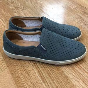 "Hotter ""Daisy"" slip on dusty grayish shoes 6.5"